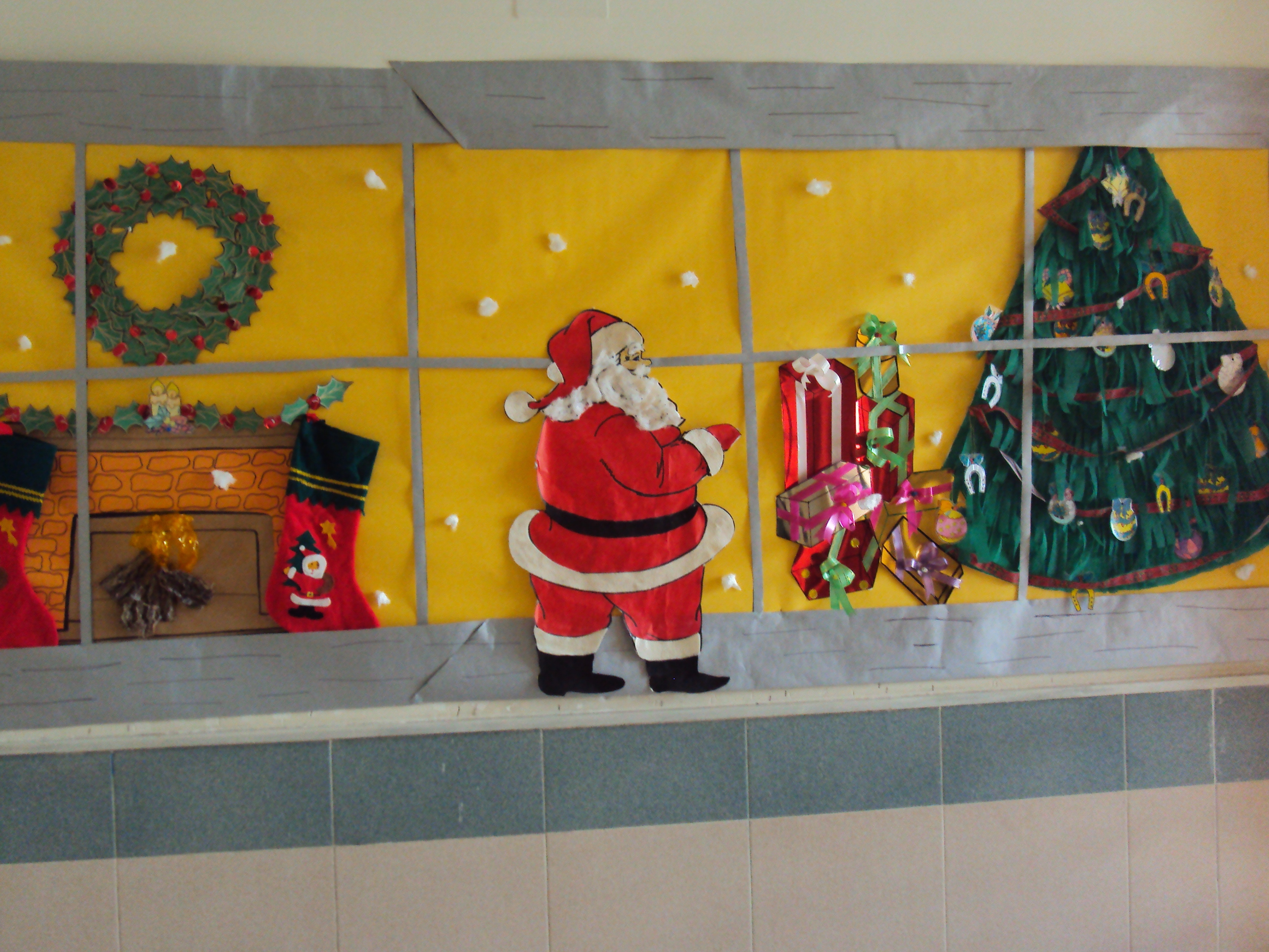 Navidad en cole de ines mi familia - Mural navidad infantil ...